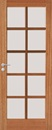 Corinthian Windsor Bushfire Joinery Glazed BAL12.5 Door Featuring 10 Light Panels