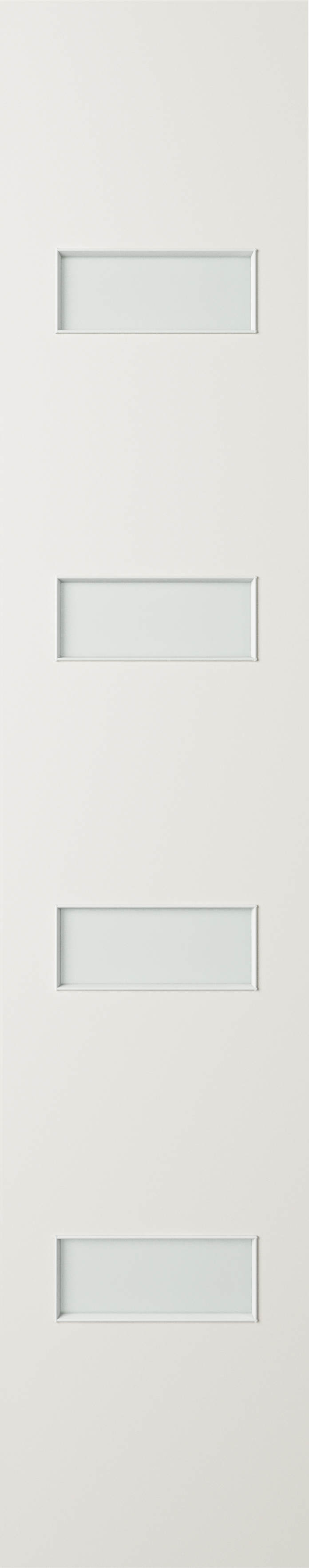 Corinthian Bushfire Routered Paint Glazed BAL 40 Sidelight Featuring 4 Horizontal Light Panels