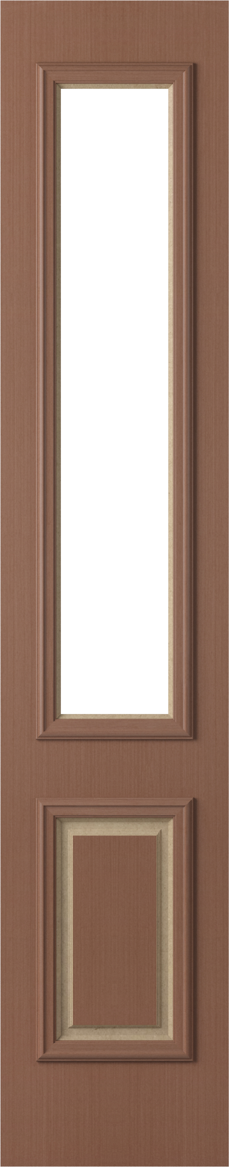 Corinthian Classic Vertical Grain Rosewood Decorative Exterior Sidelight 1 Panel Solid/1 Light Panel