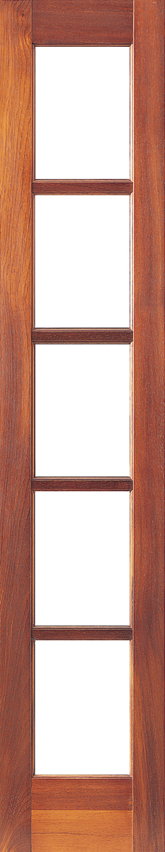 Corinthian Infinity Merbau Timber Exterior Sidelight Featuring 10 Light Panels