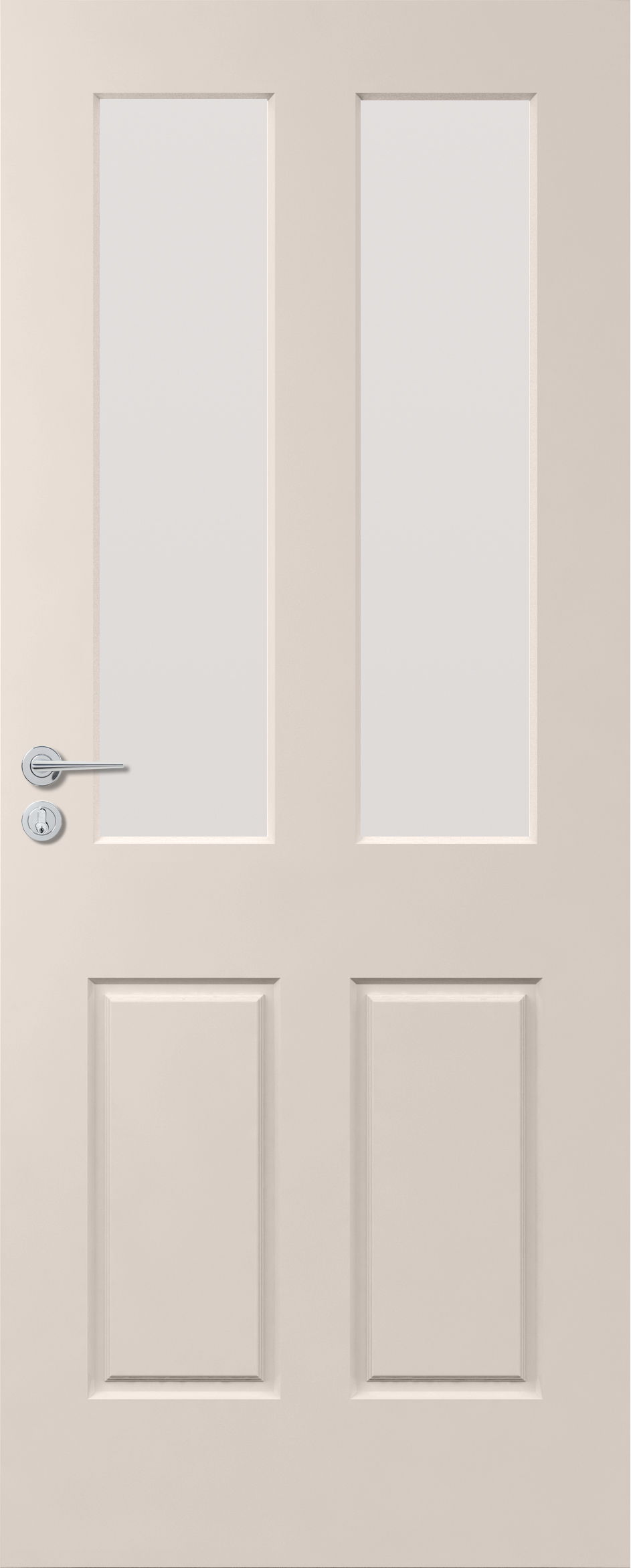 Corinthian Solidcarve Primed Exterior Door Featuring 2 Panels/2 Light Panels