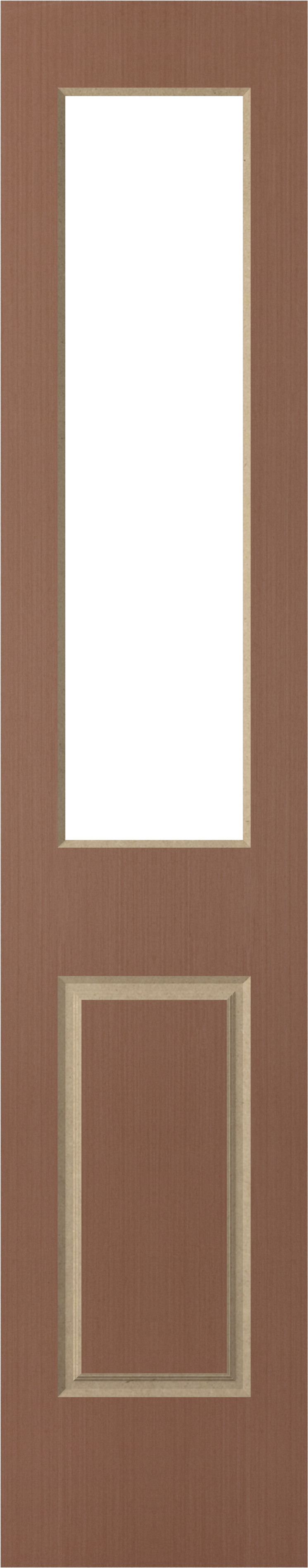 Corinthian Solidcarve Vertical Grain Rosewood Sidelight Featuring 1 Panels/1 Light Panel